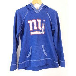 NFL NY Giants Fleece Lined Hooded Sweatshirt
